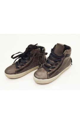 "Sneakers Pelle Grigio ""Crime London"""
