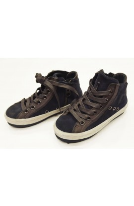 "Sneakers Pelle Blu ""Crime London"""